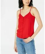 Maison Jules Women's Button-Front Camisole, Red Size Medium  - $21.78