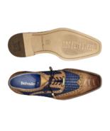 Belvedere Gerry Ostrich /Woven Calf Dress Shoe Almond and Navy Blue R24 - $399.20