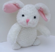 "Hallmark Plush White Bunny Rabbit Pink Nose Stuffed Animal 8"" Tall VF5325 - $8.41"