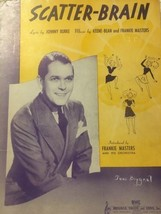 Scatter Brain Frankie Masters Johnny Burke Keene-Bean Sheet Music Vintage - $7.70