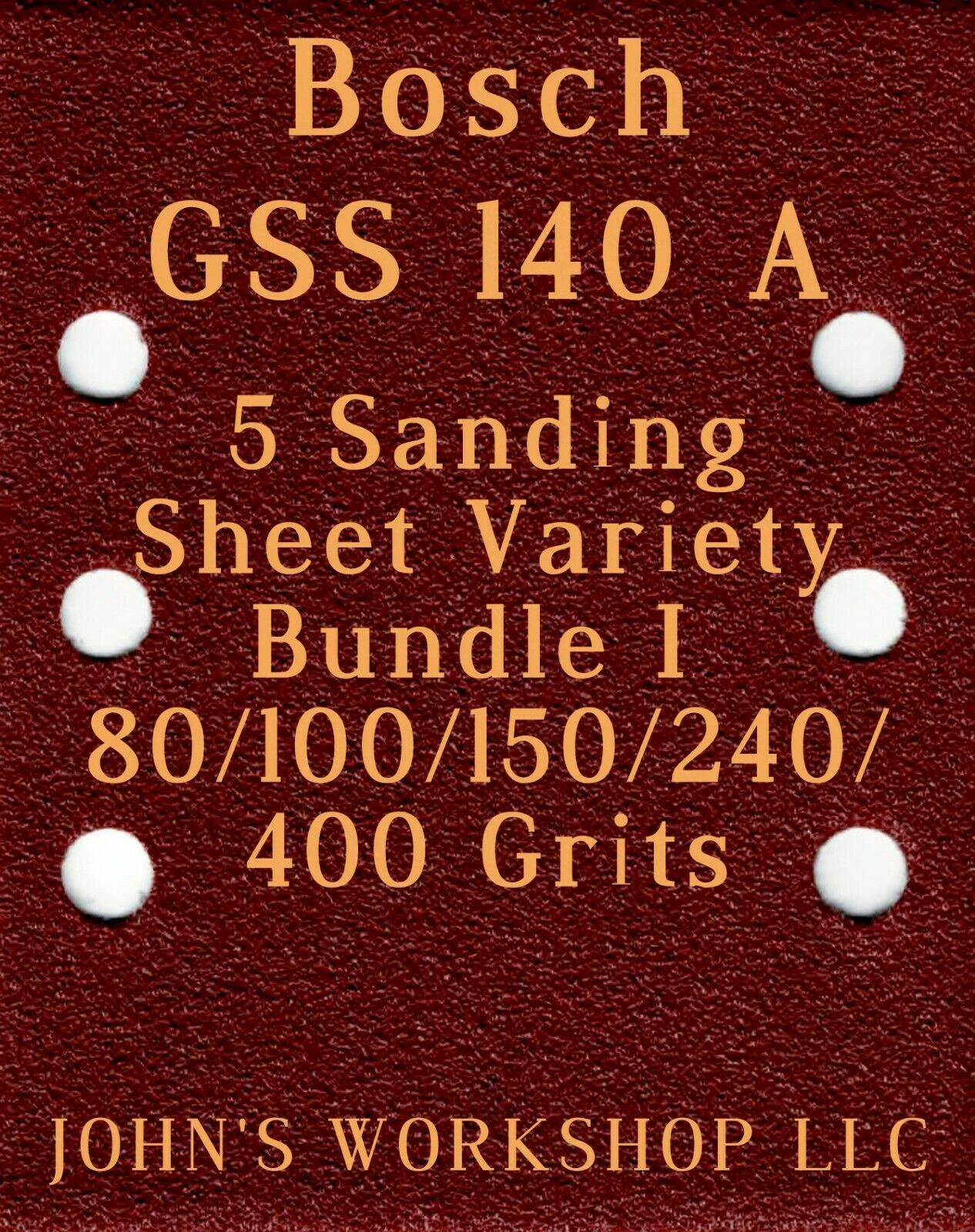 Primary image for Bosch GSS 140 A - 80/100/150/240/400 Grits - 5 Sandpaper Variety Bundle I