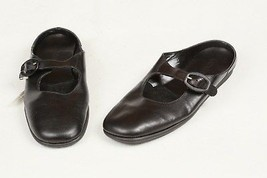 DEXTER Women's Black Leather Mules Slip on Clogs Mary Janes Shoes 6 1/2 B New  - $14.85