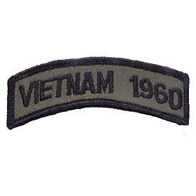 Primary image for VIETNAM 1960 OD SUBDUED SHOULDER ROCKER TAB EMBROIDERED MILITARY PATCH