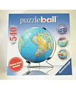 Ravensburger Puzzle Ball The World on V-Stand Globe 540 PC 3D Jigsaw Puz... - $77.22