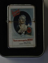 Vintage Art Windproof Dual Flame Torch Lighter Lucky Strike Cream Of The Crop - $23.70