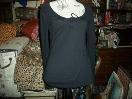 MARTIN+OSA Slick Spider Black Scoopneck Blouse Size S - $12.87