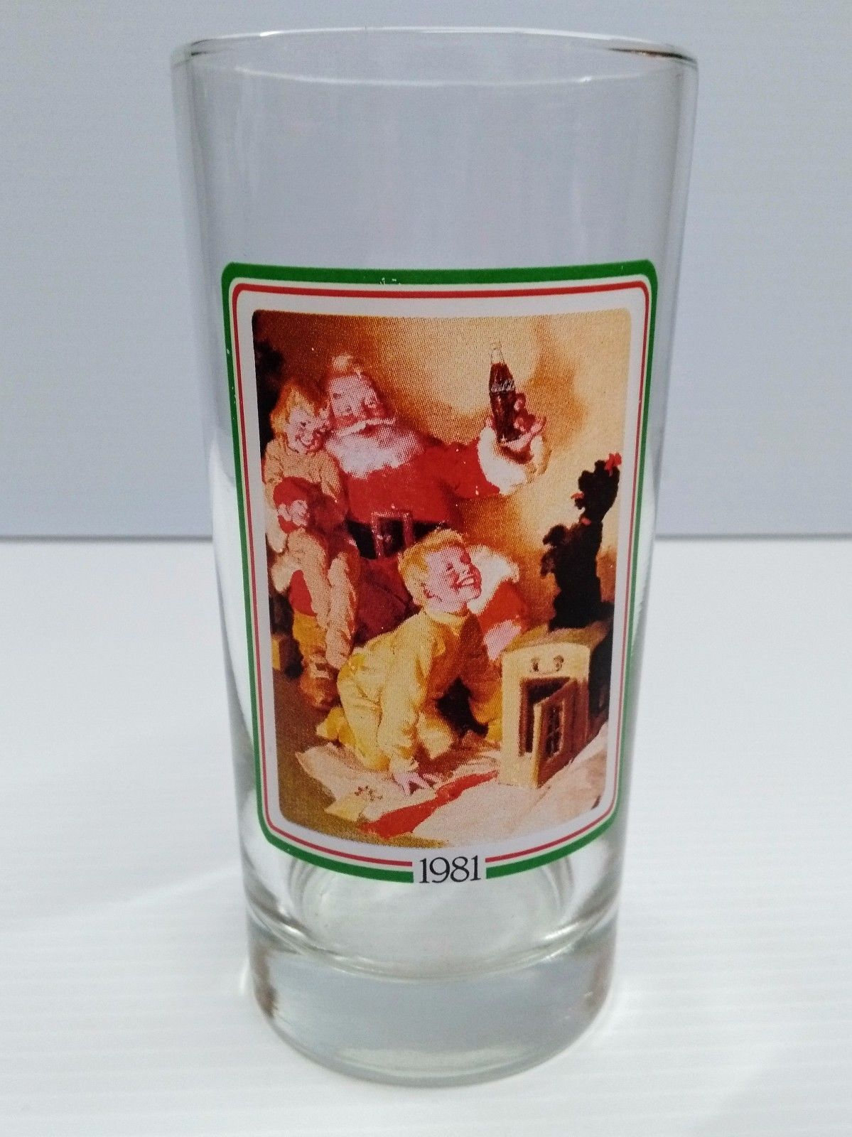 coca cola 1981 christmas drinking glass brand new - Christmas Drinking Glasses