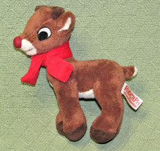 """8"""" Dan Dee Rudolph The Red Nosed Reindeer Stuffed Animal With Scarf Character - $9.90"""