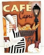 """Cafe Capri Chef Plaque - 3D Wall Art - 6 1/2"""" x 4 1/2"""" - $14.01"""