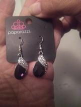 Purple Rhinestone Earrings - $5.00