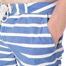 "Polo Ralph Lauren Men Blue Stripe mainship 5"" Swim shorts swimwear size 40 su25 - $51.38"