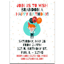 Multi Color Balloons Birthday Party Invitations - $25.25