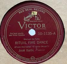 Jose Iturbi 78 RPM Record Ritual Fire Dance Of Terror Vintage - $9.45