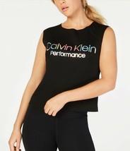 Calvin Klein Performance Logo Cropped Tank Top, Size L ,Xl or 2XL - $25.99