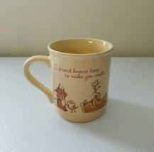 "Hallmark Mug Mates ""A Friend Can Make Your Day Worthwile"" Coffee Mug Cut... - $11.93"