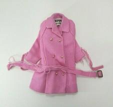 VINTAGE BARBIE CLOTHING MATTEL 1963 SKIPPER PINK COAT JACKET WW/ BELT NE... - $18.70