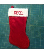 """Christmas Stocking Embroidered w/Name Plush Red or Green 17"""" Choose also... - $13.99"""