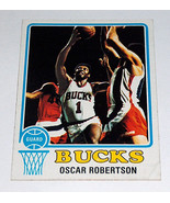 1973-74 Topps #70 Oscar Robertson #1 Milwaukee Bucks NBA Basket Cartolin... - $10.74