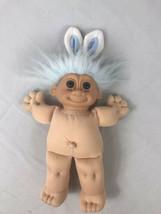 "Russ Troll Doll Blue Pajamas Bunny Rabbit Easter Theme Ears 12"" Plush - $27.71"