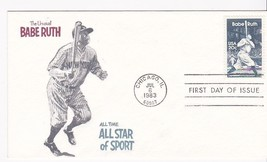 BABE RUTH #2046 CHICAGO, IL JULY 6, 1983 RAMPANT LION CACHET D-976 - ₹228.14 INR