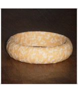 Yellow Bangle, Extra Small Wood Bangle, Sunshine Yellow Bracelet, Fabric... - $9.99
