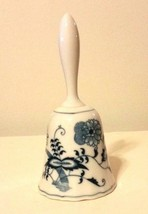 "Blue Danube Porcelain Bell Blue Onion Banner Mark  6"" Tall Made In Taiwan - $15.35"