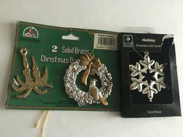 "Vintage Christmas Ornaments Resin & Brass 3"" Ornaments  - $10.84"
