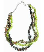 Ali-Khan New York Polished Stone & Metal Adjustable Choker Necklace - $25.17