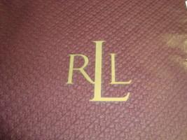 New Ralph Lauren blanket 100% Cotton LAWTON Red Wine Burgundy Textured Twin - $89.99