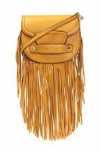 Michael Kors Cary Mini Fringed Lambskin Boho-Chic Saddle Bag Crossbody B... - $79.19