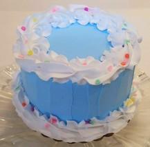 Blue Birthday Fake Cake w/Confetti  Faux Cake- fake unedible kitchen dec... - $26.72