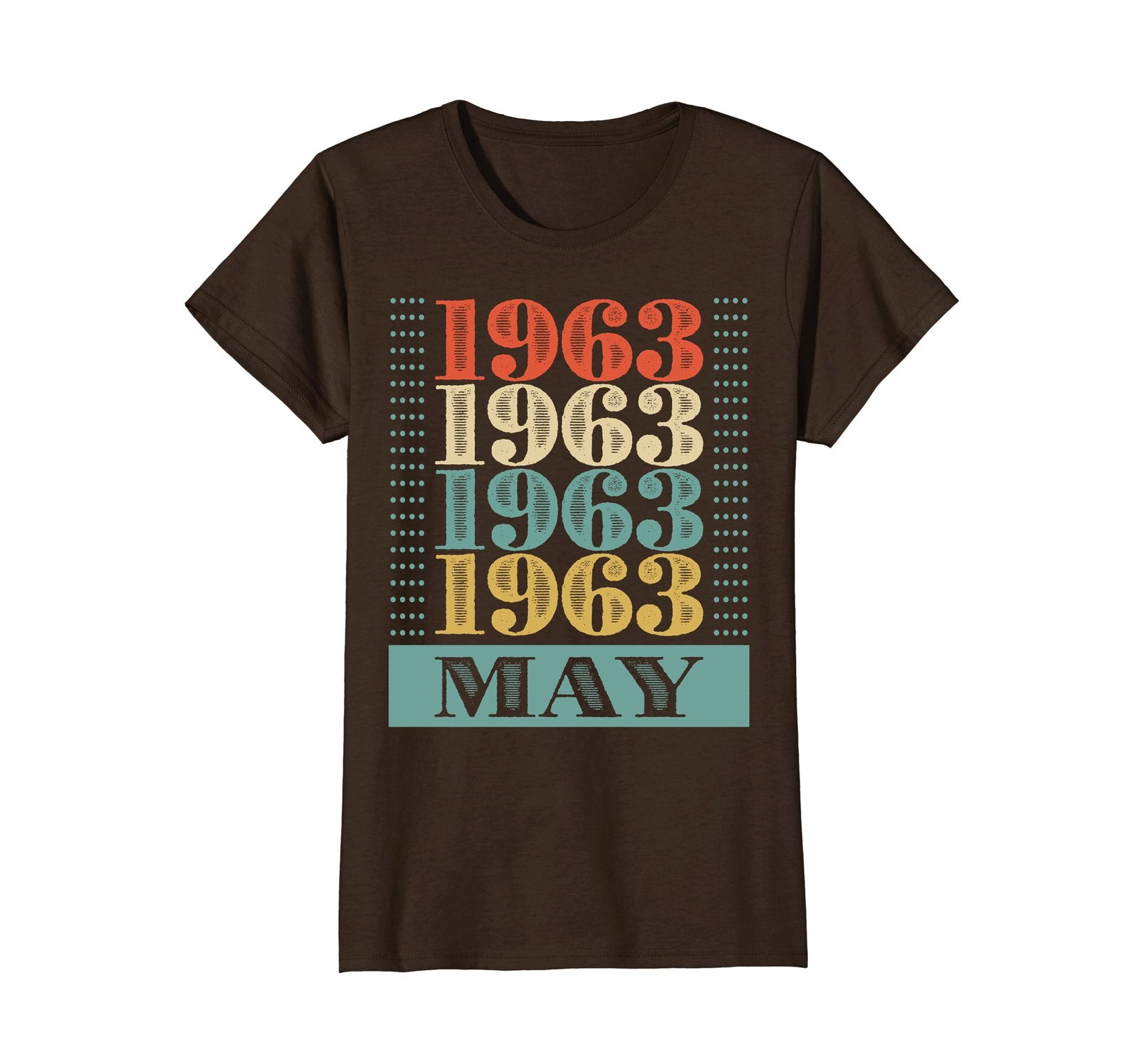 Funny Shirts - Retro Classic Vintage May 1963 55th Birthday Gift 55 yrs old Wowe