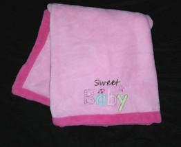 Child Of Mine Carter's SWEET BABY Girl Pink Fleece Blanket Lady Bug Butterfly - $19.16