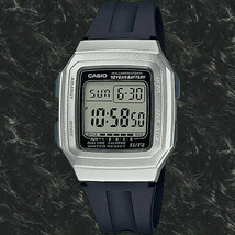 Casio Illuminator Digital Watch F201WAM-7ATC 5 Alarms Resin 10 Yr Battery - $14.99