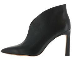 Vince Camuto Pointy Toe Heeled Booties Sestrinda Black Leather 6M NEW A3... - £103.32 GBP