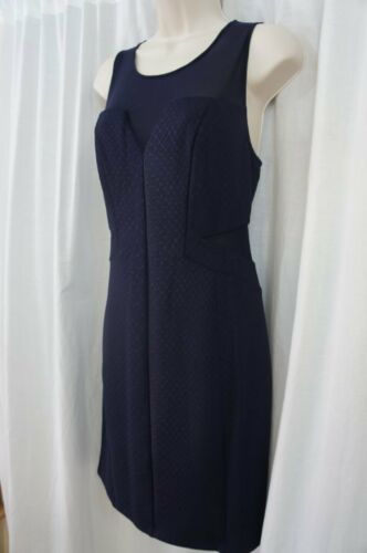Guess Los Angeles Dress Sz 12 Midnight Blue Sheer Sleeveless Cocktail Party  image 2