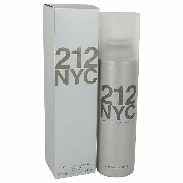 212 Perfume by Carolina Herrera - 5.1 oz Deodorant Spray 100% Authentic