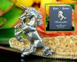Unicorn figural brooch pin piper pewter handcrafted nova scotia canada thumb155 crop