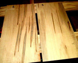 """2 PIECES KILN DRIED SANDED THIN CURLY AMBROSIA MAPLE 23 1/2 X 11 3/4 X 3/8"""" B"""