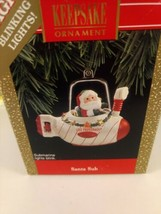 Hallmark Keepsake Christmas Ornament Santa Sub w/Blinking Lights 1992  - $14.01