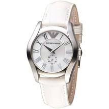 Emporio Armani AR1669 Classic White Leather Strap Womens Watch - $87.68