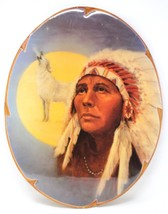 Vintage Native American Indian Warrior Chief Wood Lithograph Wall Art - $103.49