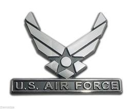 Air Force 3 X 3 Inch Military Chrome Medallion Emblem - $36.09