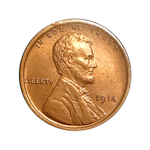 1914 P Lincoln Wheat Cent - Gem BU / MS / UNC - $69.45