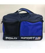 VTG Polo Sport Ralph Lauren Gym Bag Spellout Duffle 90s RLX Bear Messeng... - $69.99