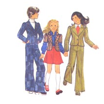 70s Vintage Simplicity Sewing Pattern 6587 Girls Jacket Flared Skirt Pan... - $6.95