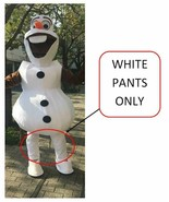 Snowman Olaf WHITE PANTS Mascot Costume Adult Birthday Party Girl Boy Co... - $19.79