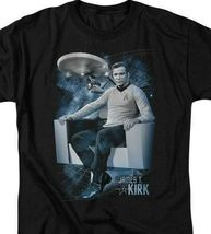 Star Trek Captain James T. Kirk Retro Science Fiction graphic t-shirt CBS1164 image 3