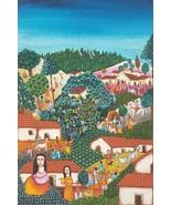 Rare 1984 Original Alfredo Linares La Palma Painting El Salvador - Galer... - $1,102.50