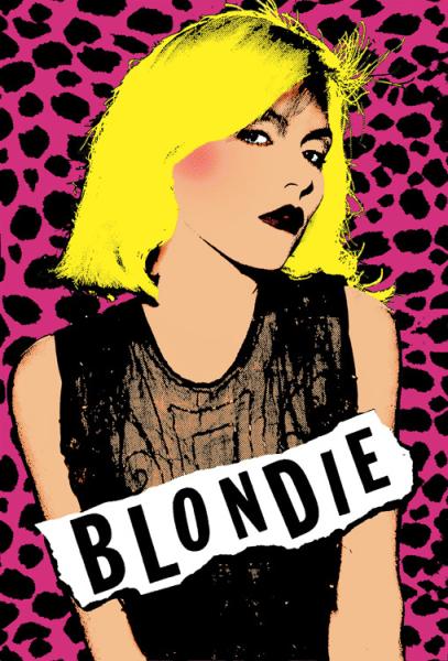 Blondie   pink poster